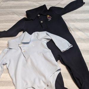 2 pcs Ralph Lauren Baby onesie